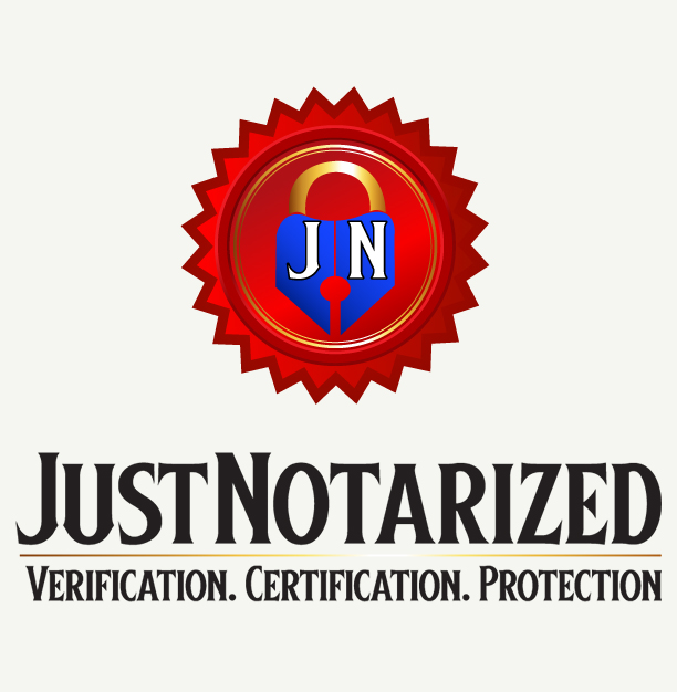 just notarized logo